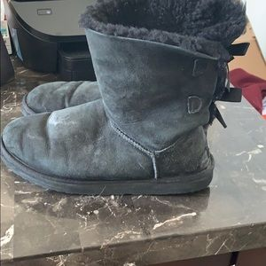 UGG Shoes - Black Uggs with the bows on the back !